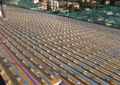 Copertura tetto isolata e ventilata