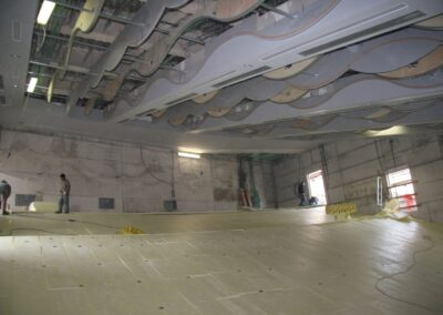 Isolamento termico a pavimento teatro